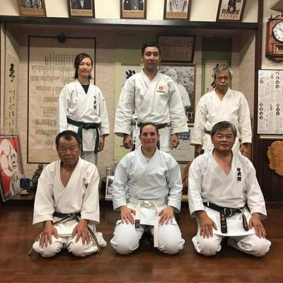 alexandra à Okinawa  avec UEMA Takeshi sensei 5 12 2016