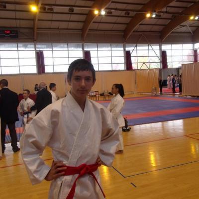 Hugo championnat Isère kata 9 11 2014