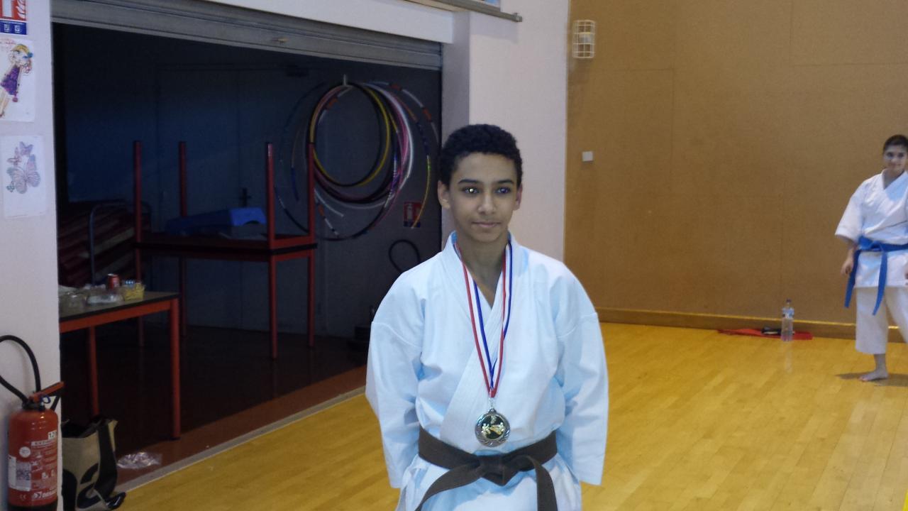 OULAHAL Ilies 2ème championnat Dpt 19 01 2014
