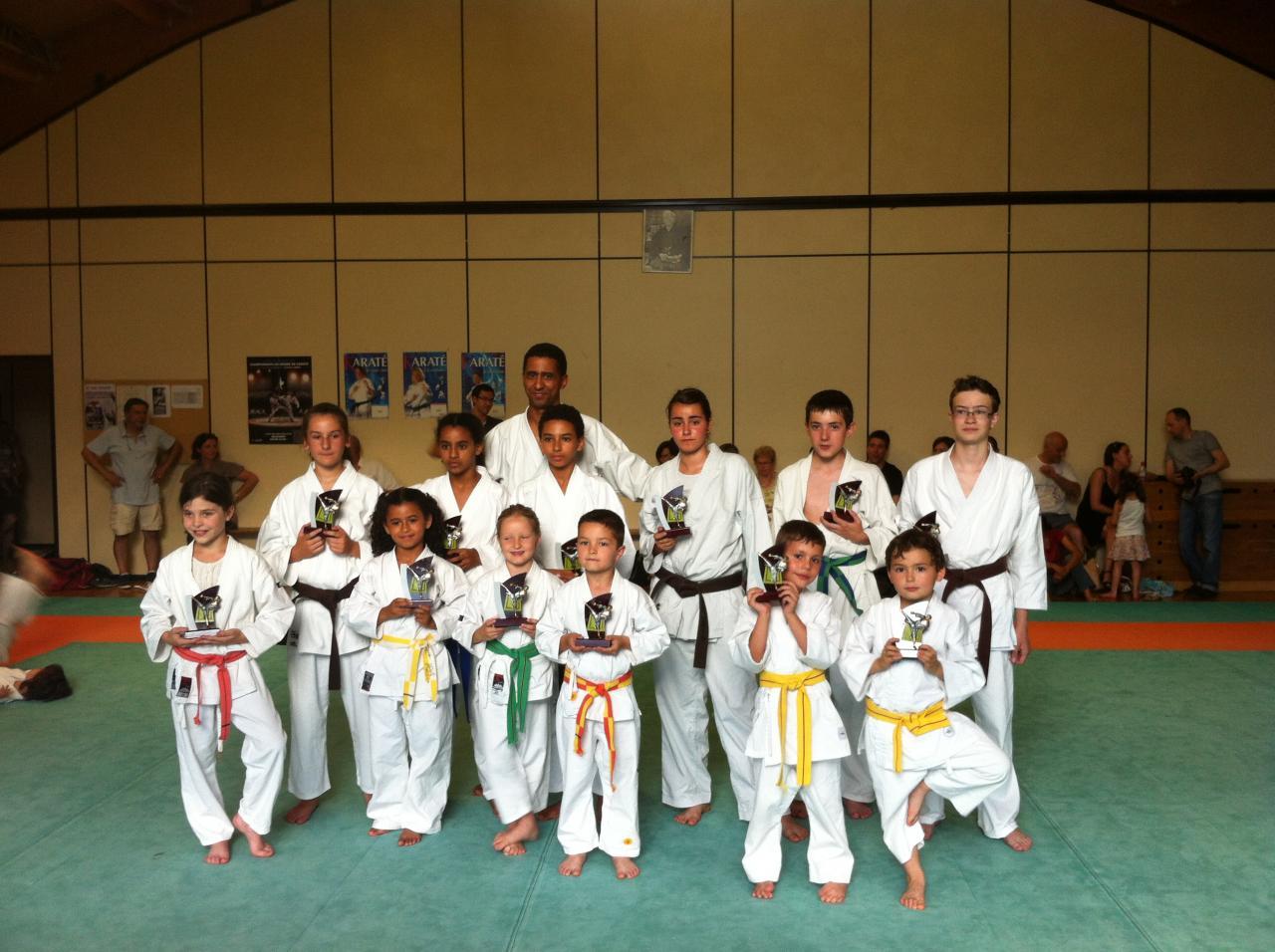 trophées du club  compétiteurs kcv juin 2013
